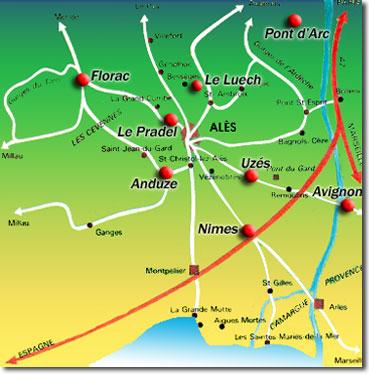 Cevennen Karte.Umland Urlaub In Den Cevennen Zwischen Provence Und Camarque